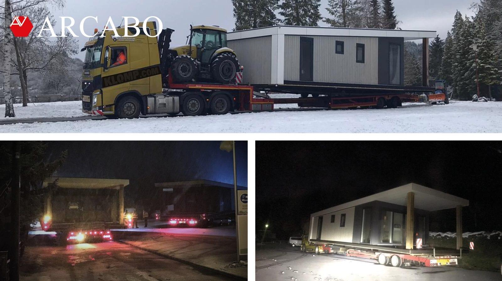 Transport durch den Schnee!